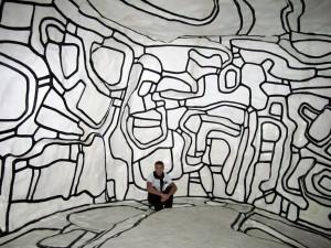 Imagen de Oropesa en Paris en el Museo Pompidou dentro de una Sala muy Chula