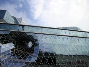 Oropesa en Frankfurt, enfrente del Centro Comercial MyZeil